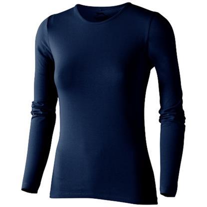 T-shirt Curve Dam  med tryck marinblå