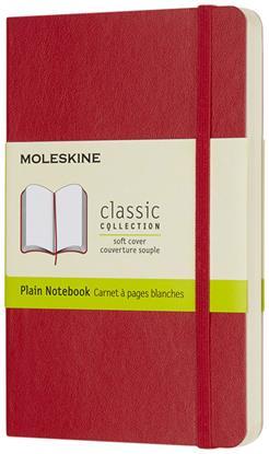 Bild på Moleskine Classic PK av anteckningsbok med mjukt omslag – blankt papper