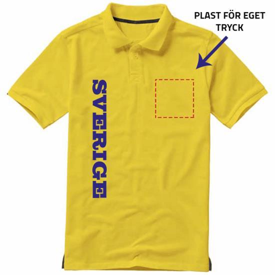 Sverige gul Piké tröja Sverige logo