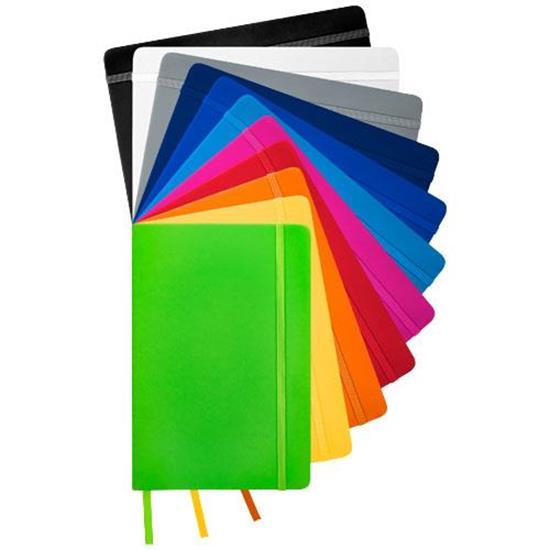 Spectrum A5 anteckningsbok linjerade sidor med tryck Svart