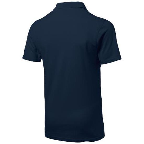 Piketröja Advantage med tryck Marinblå