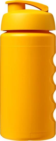 Sportflaska Baseline® Plus grip 500 ml uppfällbart lock med tryck Gul