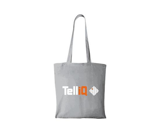 Tygpåse Madras 140g/m2 - TelliQ med tryck Grå