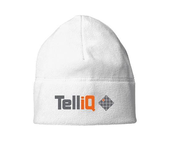 Mössa Caliber - TelliQ med tryck Vit