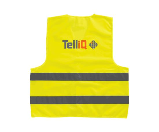 Professionell säkerhetsväst Watch-out - TelliQ med tryck Gul