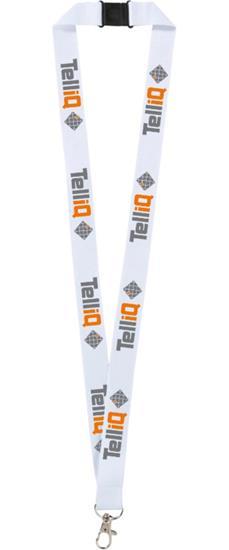EXPRESS Logoband - Nyckelband - TelliQ med tryck Vit