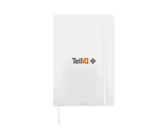 Anteckningsbok Spectrum A5 linjerade sidor - TelliQ med tryck Svart