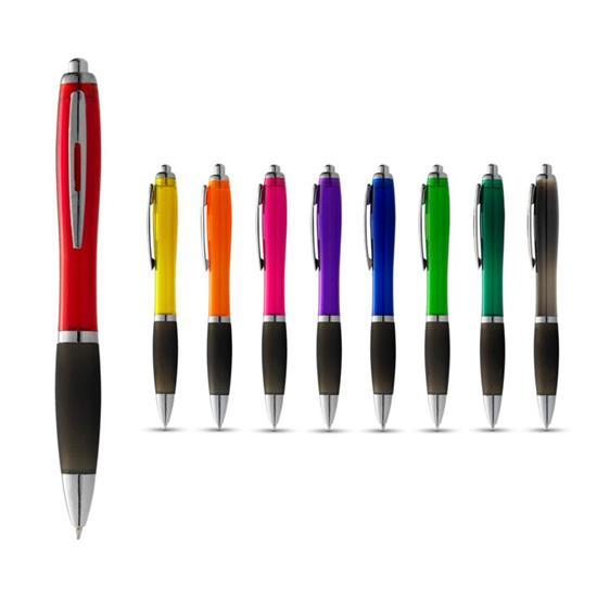 Penna Nash svart grepp, blått bläck med tryck Röd/Svart