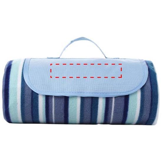 Riviera picknickfilt med tryck Vit/Blå