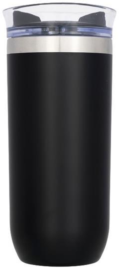 Vridbar vakuumisolerade flaska 470ml med tryck Svart