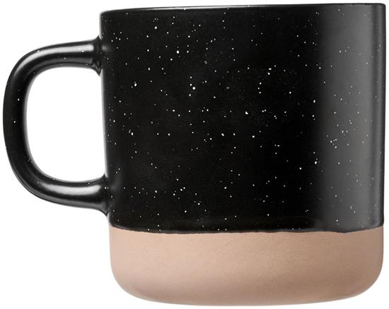 Keramikmugg Pascal 360 ml med tryck Svart
