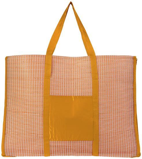 Bonbini hopvikbar strandväska och matta med tryck Orange