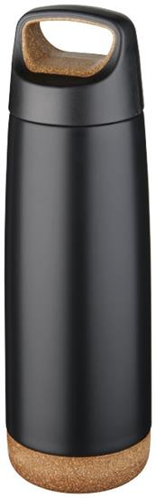 Isolerad vattenflaska Valhalla 600 ml i koppar med tryck Svart