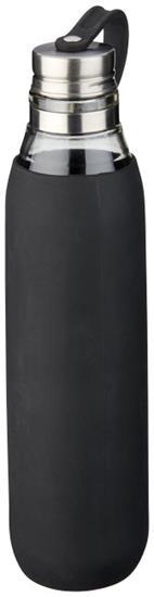 Vattenflaska i glas Oasis 650 ml med tryck Svart