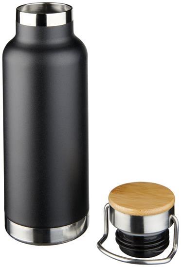 Isolerad vattenflaska Thor 480 ml i koppar med tryck Svart