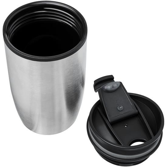 Termosmugg Prado 330 ml med tryck Silver
