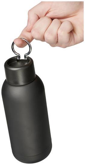 Isolerad sportflaska Brea 375 ml  med tryck Svart