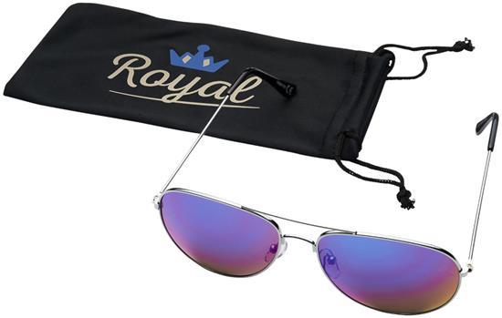 Solglasögon Aviator med spegellinser med tryck Lila