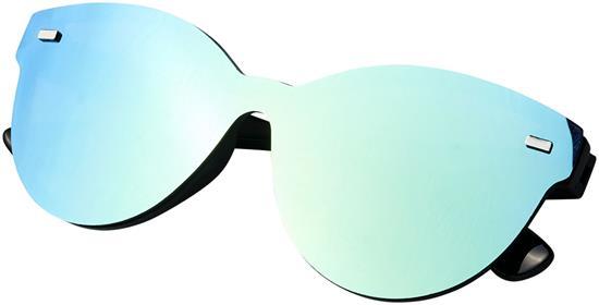 Solglasögon Shield speglad lins med tryck Gul