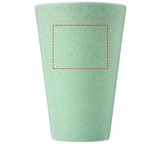 Termosmugg Gila 430 ml i halm med tryck Turkos