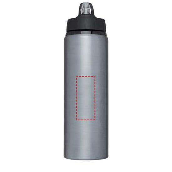 Metallflaska Fitz 800 ml med tryck Grå