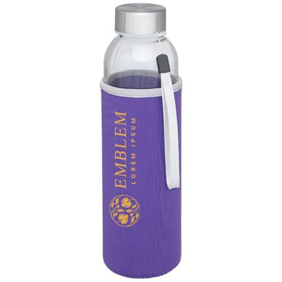 Glasflaska Bodhi 500 ml med tryck Lila