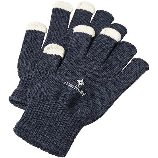 Handskar Billy taktila  med tryck Marinblå
