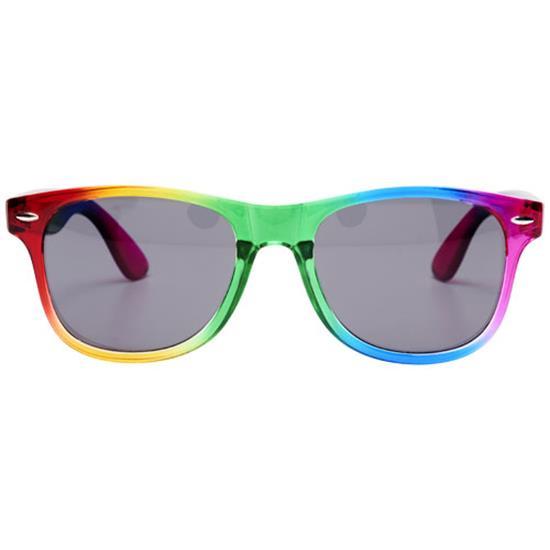 Solglasögon Sun Ray Regnbåge med tryck Röd/Grön
