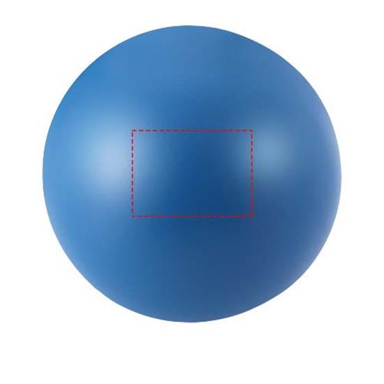 Stressboll rund med tryck Blå