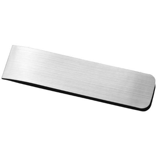 Dosa magnetiskt bokmärke i aluminium med tryck Silver
