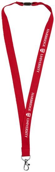 Nyckelband Dylan bomull med tryck Röd