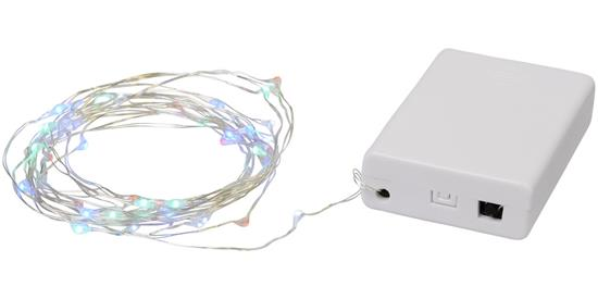 Ljudaktiverad ljusslinga 50 LED-lampor Pulse med tryck Vit
