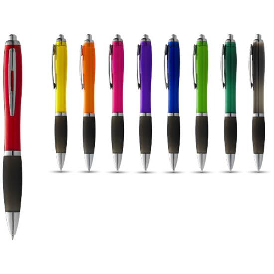 Penna Nash svart grepp, svart bläck med tryck Röd/Svart