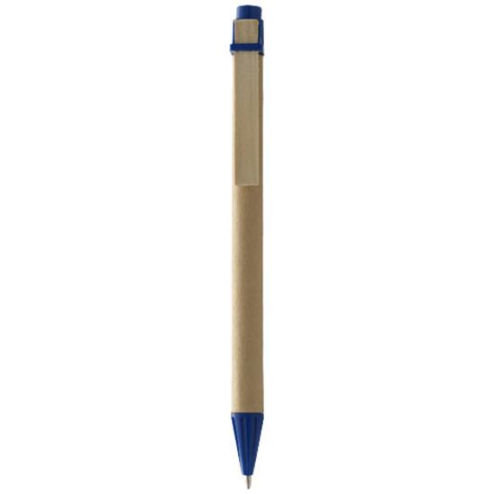 Penna Silvia, blått bläck med tryck Natur/Marinblå
