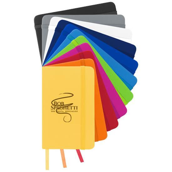 Anteckningsbok Spectrum A6 linjerade sidor med tryck Gul