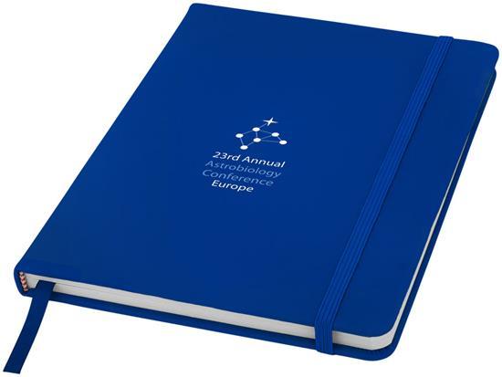 Anteckningsbok Spectrum A5 blanka sidor med tryck Kungsblå