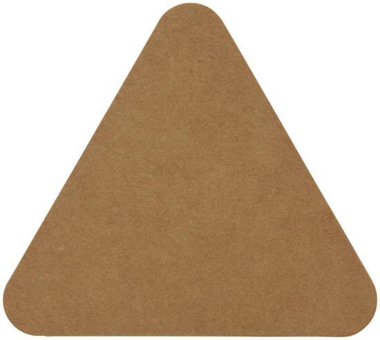 Notislappar-set Triangle med tryck Brun