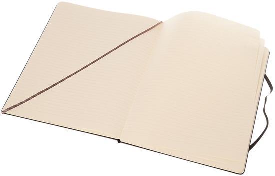 Moleskine Classic XL av inbunden anteckningsbok – linjerad med tryck Svart