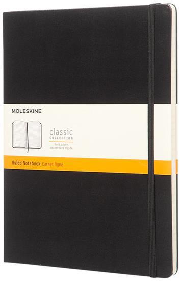 Classic XL av inbunden anteckningsbok – linjerad med tryck Svart