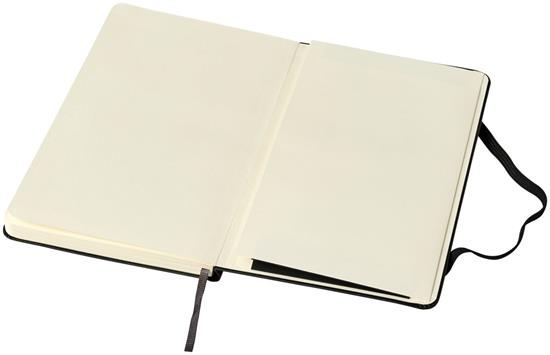 Moleskine Classic M inbunden anteckningsbok – linjerat med tryck Svart