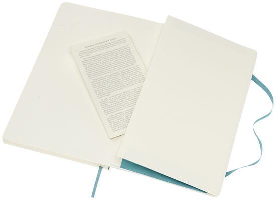 Moleskine Anteckningsbok Classic Lagre med mjukt omslag – linjerad med tryck Blå
