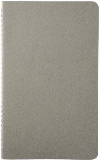 Cahier dagbok L – linjerad (3 st) med tryck Grå