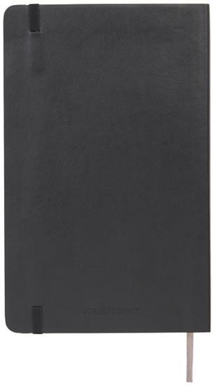 Moleskine Classic L anteckningsbok med mjukt omslag – prickad med tryck Svart