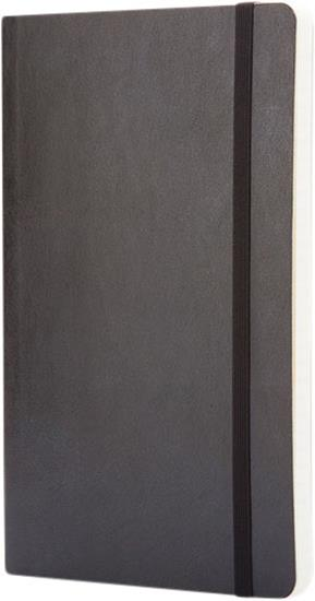 Classic L anteckningsbok med mjukt omslag – prickad med tryck Svart