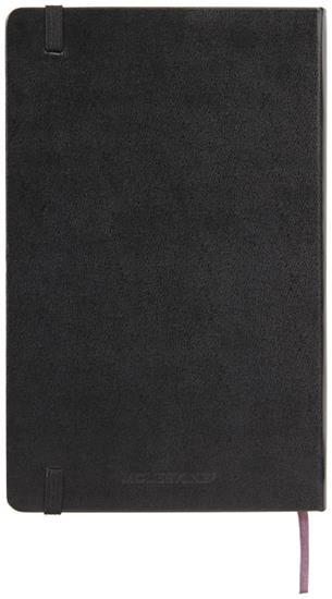 Moleskine Classic L inbunden anteckningsbok – blank med tryck Svart