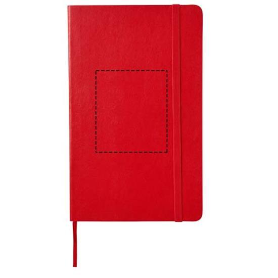 Moleskine Classic L anteckningsbok med mjukt omslag – blanka sidor med tryck Röd