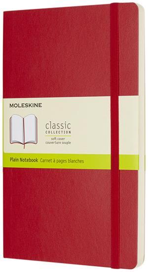 Classic L anteckningsbok med mjukt omslag – blanka sidor med tryck Röd