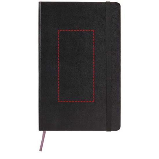 Classic PK av inbunden anteckningsbok – prickad med tryck Svart