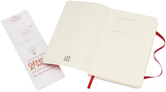 Moleskine Classic PK av anteckningsbok med mjukt omslag – prickad med tryck Röd