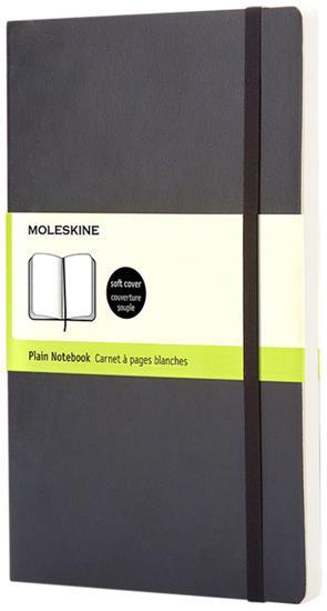Moleskine Classic PK av anteckningsbok med mjukt omslag – blankt papper med tryck Svart